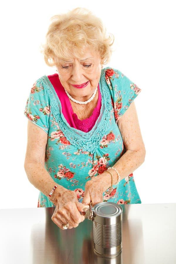 充满关节炎痛苦的高级妇女 免版税库存图片