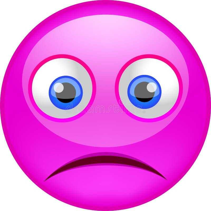 充满坏心情的哀伤的emoji 皇族释放例证