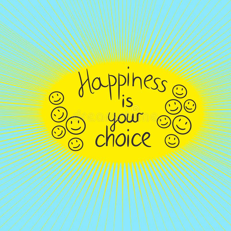 充满文本幸福的富启示性的刺激行情是您的选择 库存例证