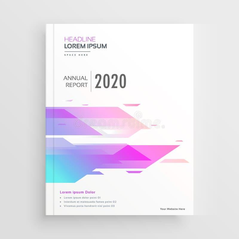充满活力的抽象形状公司企业小册子设计模板 库存例证