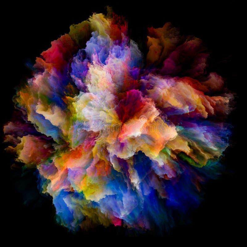充满活力的颜色飞溅爆炸 皇族释放例证