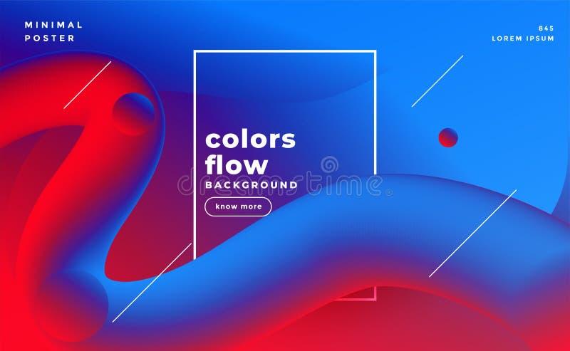 充满活力的3d液体圈可变的颜色背景 库存例证