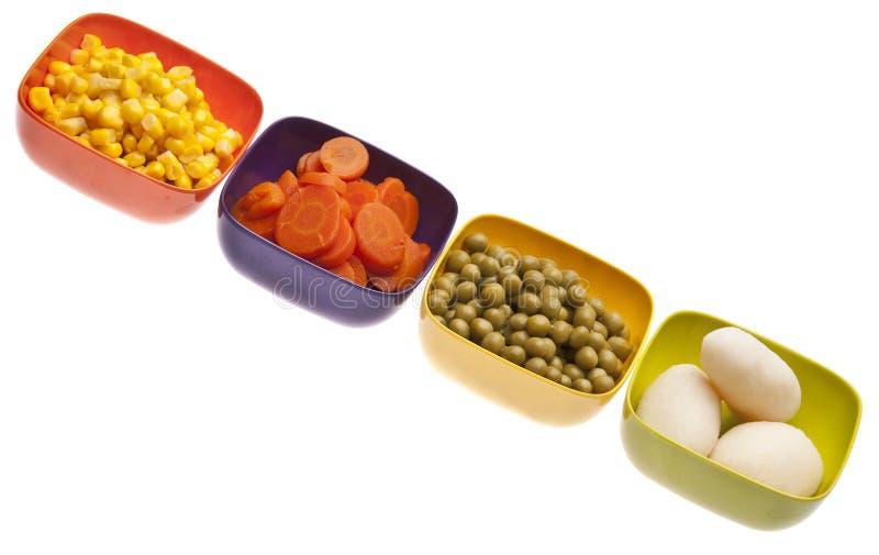 充满活力罐装的蔬菜 免版税库存照片