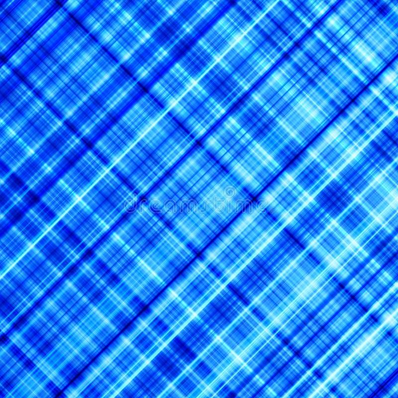 充满活力蓝色对角的线路 向量例证