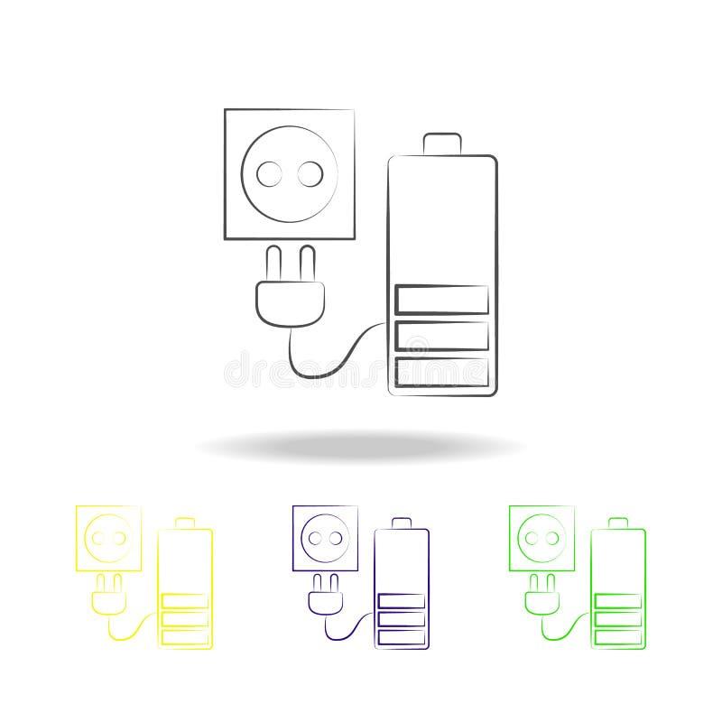 充电器多彩多姿的象 电子设备多彩多姿的象的元素 标志,标志汇集象可以为网使用, 皇族释放例证