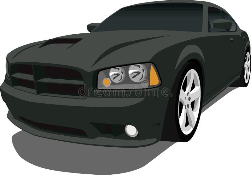 充电器推托轿车 向量例证