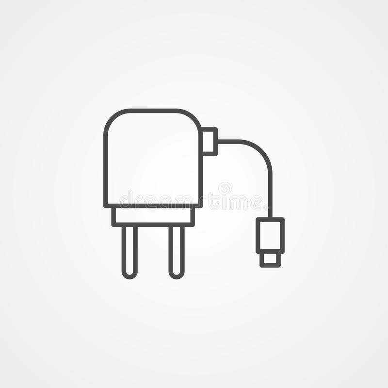 充电器适配器传染媒介象标志标志 皇族释放例证