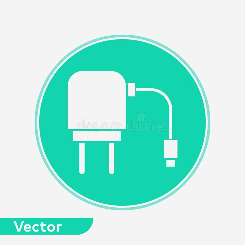 充电器适配器传染媒介象标志标志 向量例证