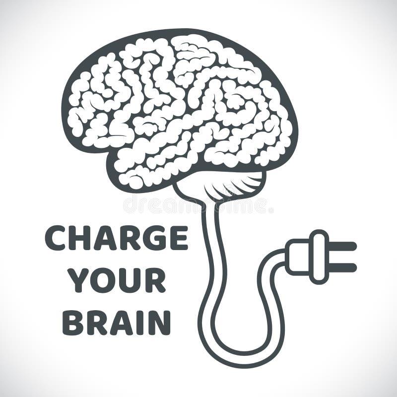 充电您的脑子概念例证 皇族释放例证