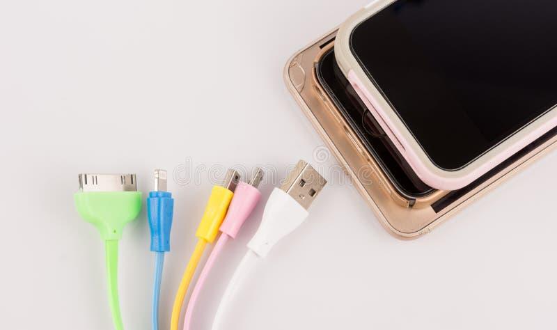 充电的机动性的USB缆绳 图库摄影