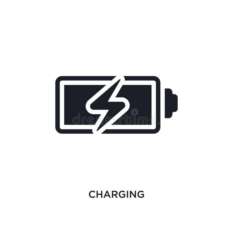 充电的被隔绝的象 从electrian连接概念象的简单的元素例证 充电的编辑可能的商标标志标志 向量例证