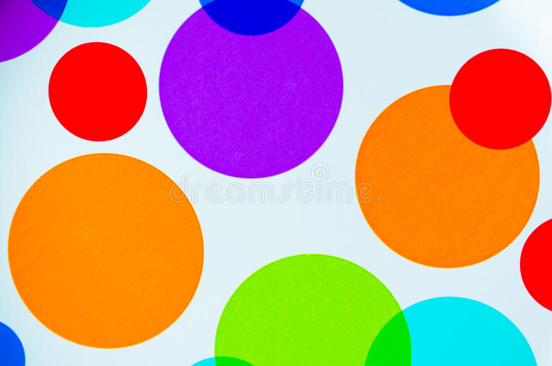 充满活力的五颜六色的圈子 库存图片