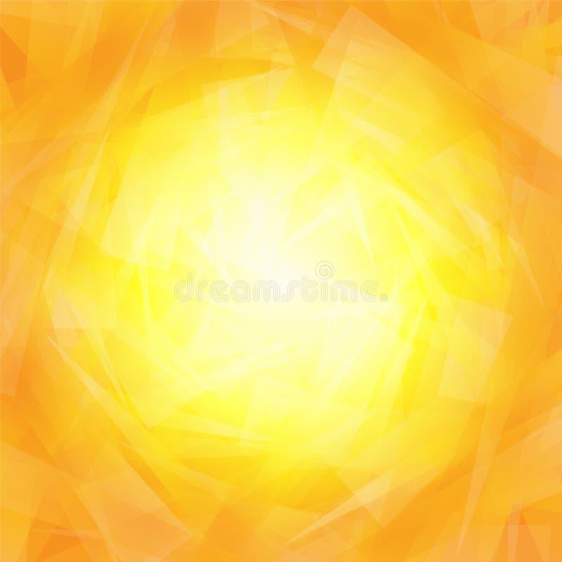 充满活力的橙黄背景 向量例证