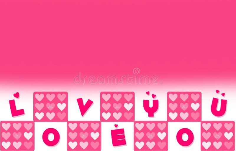 充满您措辞的爱的情人节墙纸 图库摄影