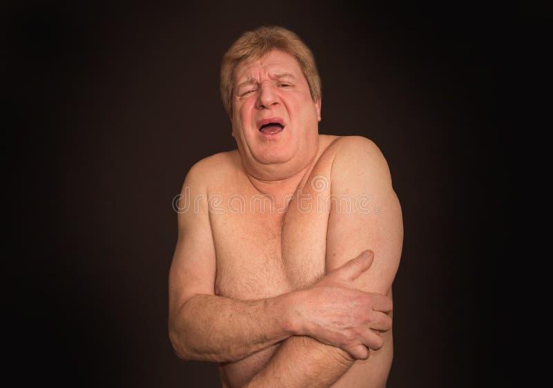 充满骨关节炎痛苦的老人 图库摄影