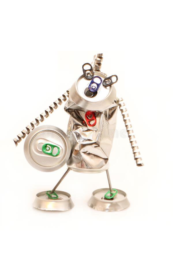 先生怪异的罐头妖怪 免版税库存图片
