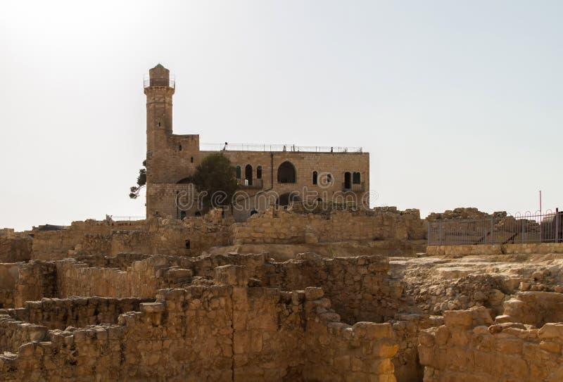 先知撒母耳, Nabi Samwil清真寺坟茔在以色列 免版税库存图片