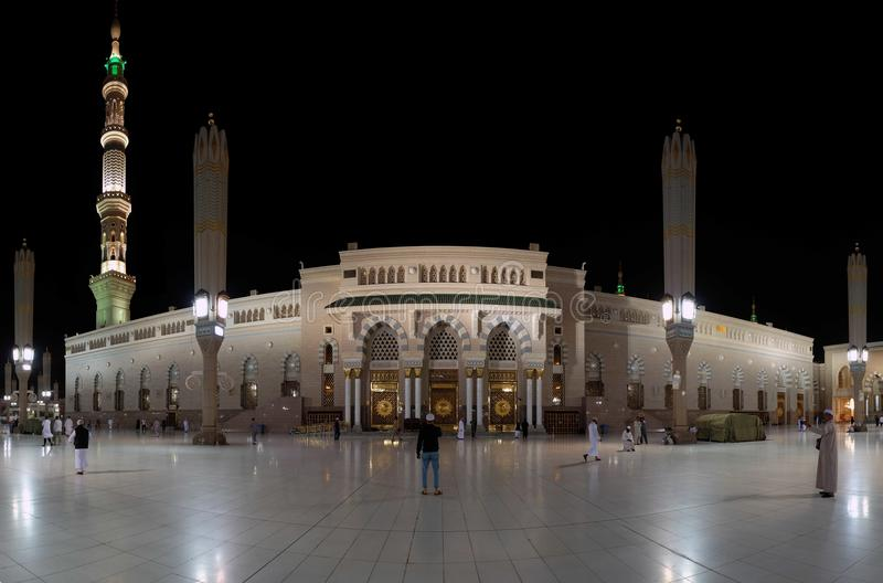 先知穆罕默德` s清真寺 库存照片