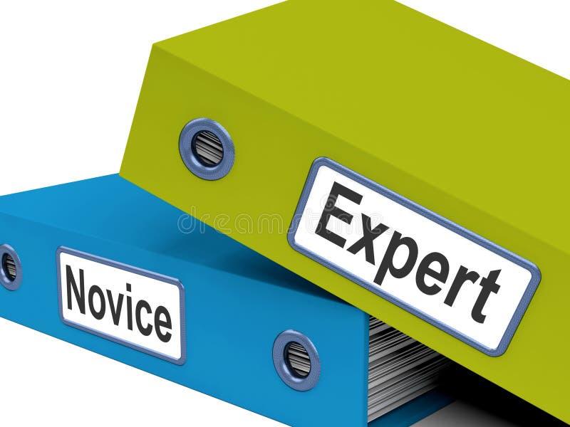 先进专家的新手的文件夹意味学习者和 库存例证