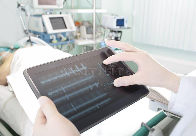 先进技术在现代医院 免版税库存图片
