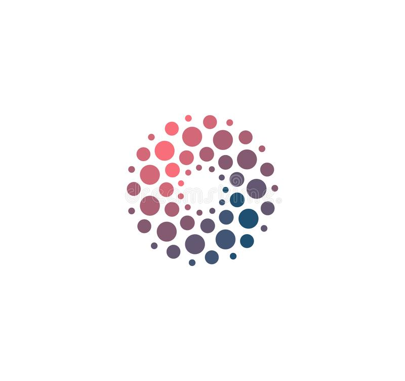 先进的分析大dat基地标志 人工智能标志的发展 抽象创新高科技商标 皇族释放例证