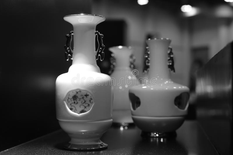 先进的瓷花瓶 库存图片