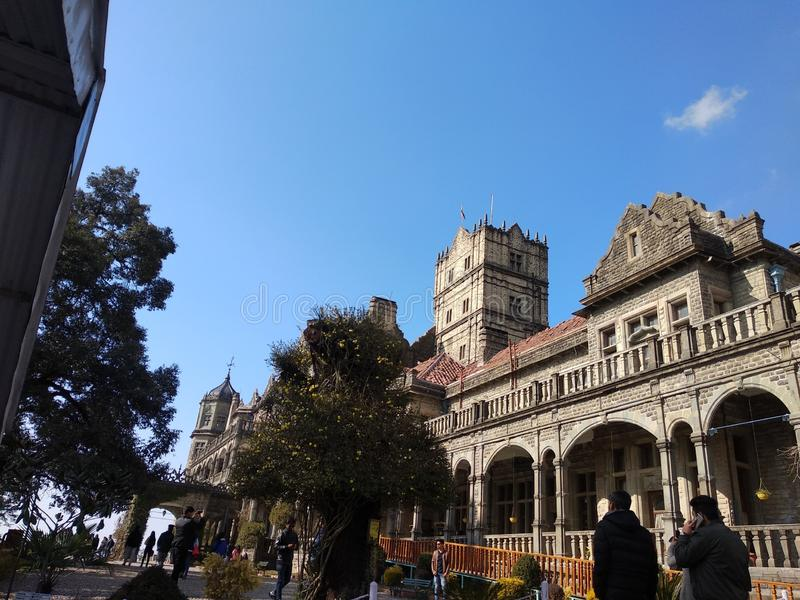 先进的StudyShimla印度学院 图库摄影