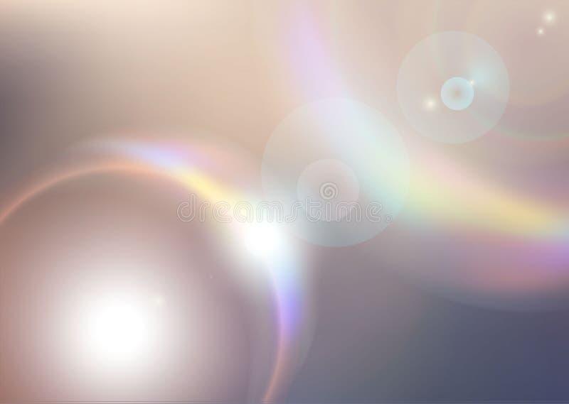 光五颜六色的光芒。抽象爆炸 库存例证
