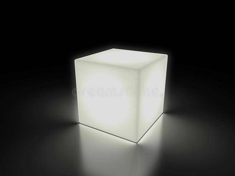 光亮多维数据集 库存例证