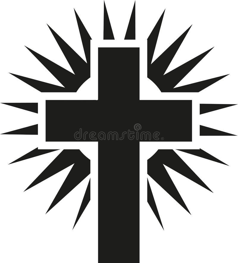 光亮的发怒耶稣 库存例证