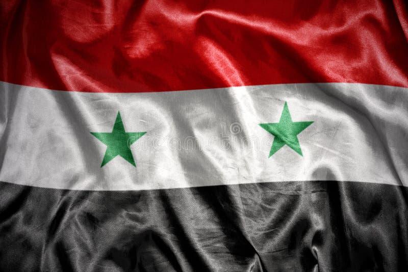 光亮的叙利亚旗子 免版税库存图片