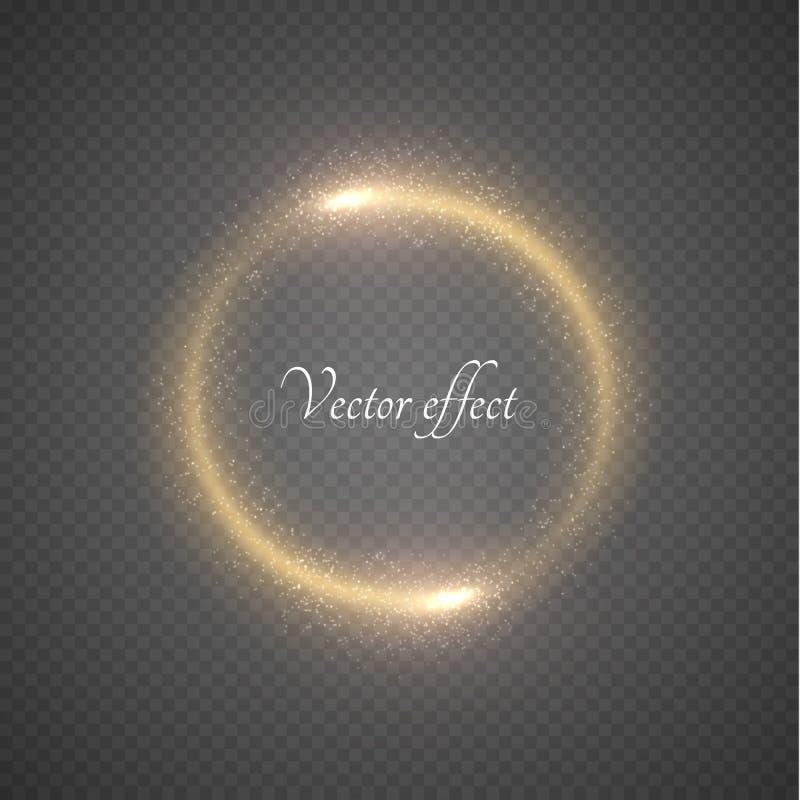 光亮的圆环传染媒介背景 库存例证