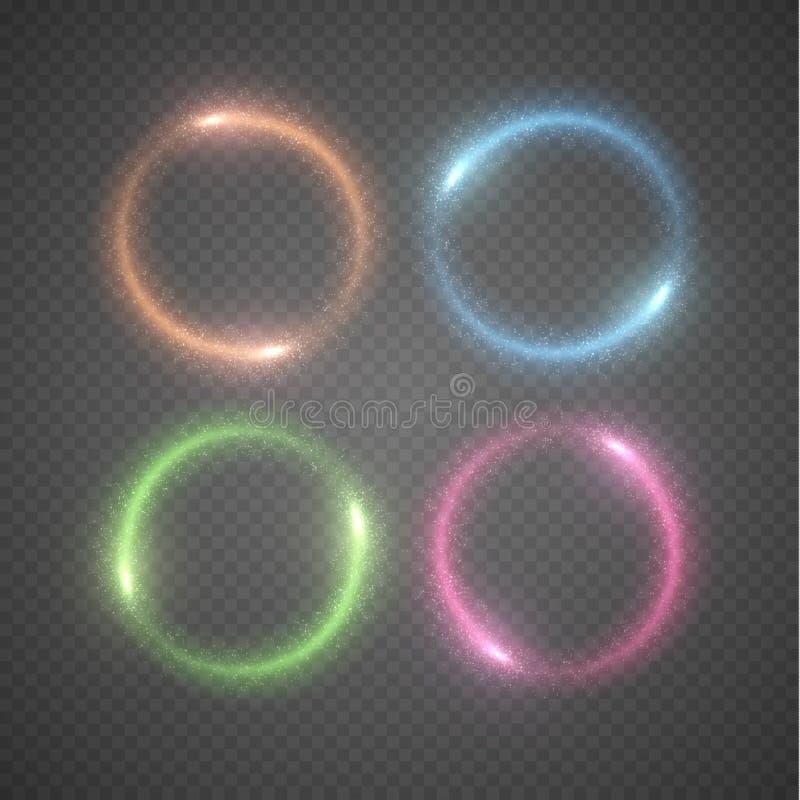 光亮的圆环传染媒介背景 皇族释放例证