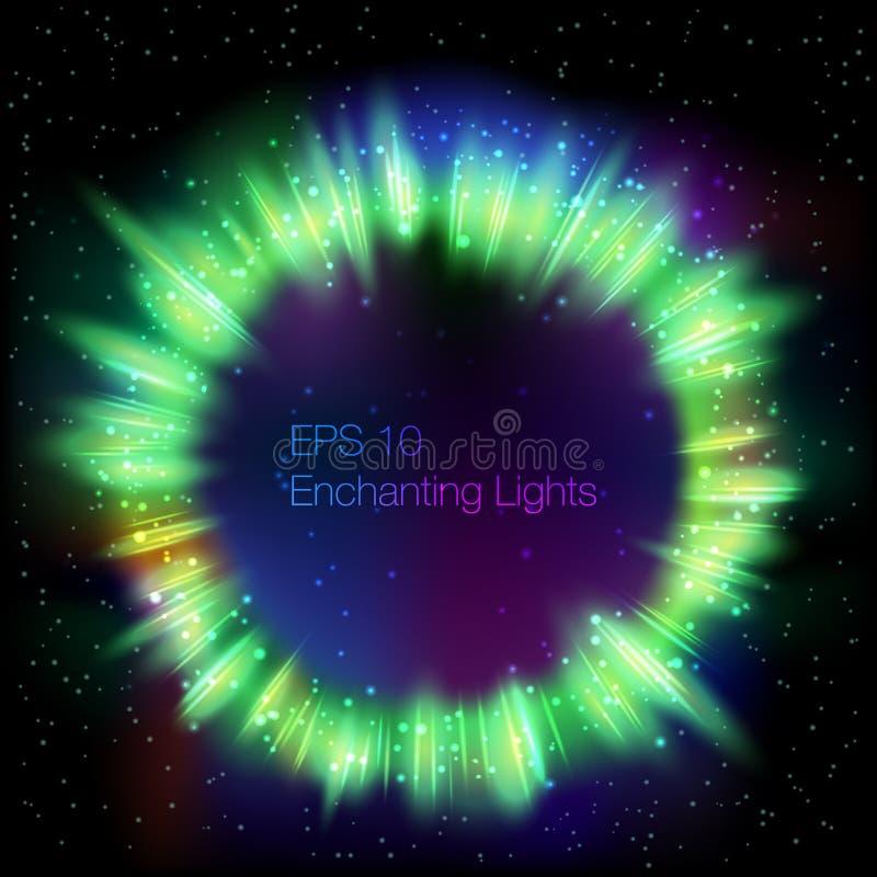 光亮的圆的框架 皇族释放例证