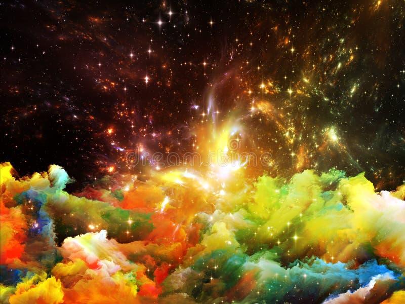 光亮的星云 向量例证