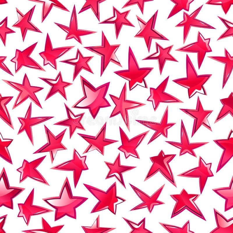 光亮的桃红色担任主角无缝的样式背景 库存例证