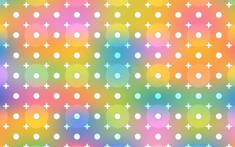 光亮的欢乐设计的美好的明亮和五颜六色的重复的样式 库存例证