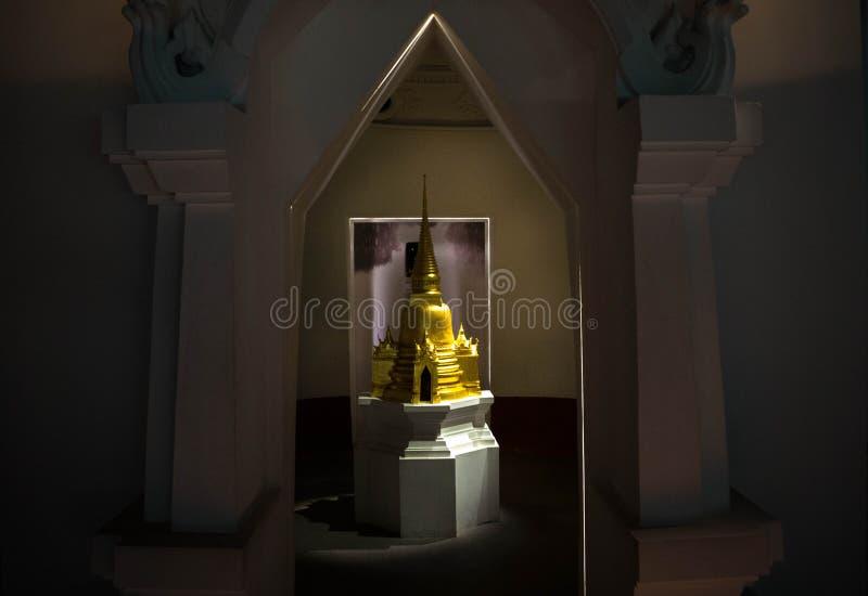 光亮的金黄塔 图库摄影