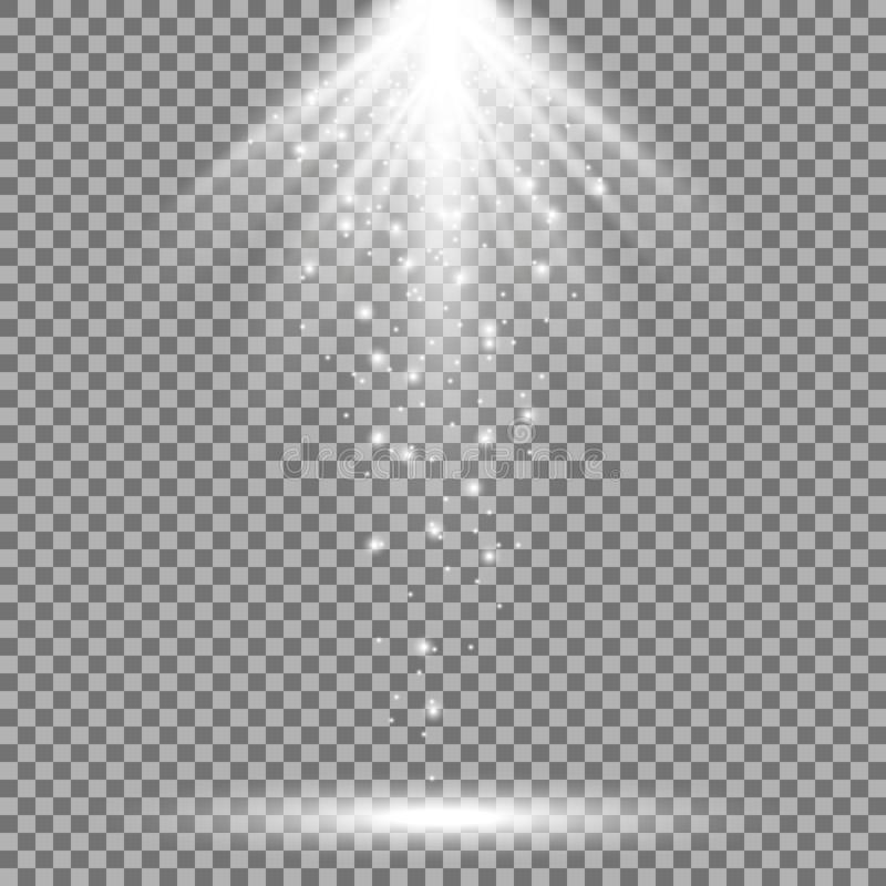 光从上面,白色颜色 向量例证