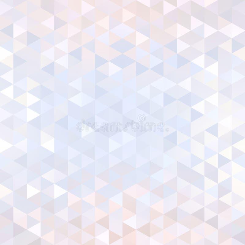 光华水晶微妙的背景 轻的淡光淡色几何纹理 金刚石摘要样式 库存例证
