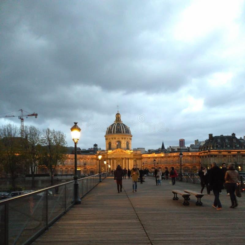 巴黎光发现欧洲美丽的云彩 库存照片