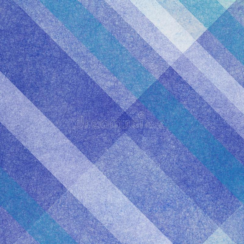 光和深蓝和白色条纹和形状在抽象几何背景中设计与微弱的织地不很细实质面 向量例证