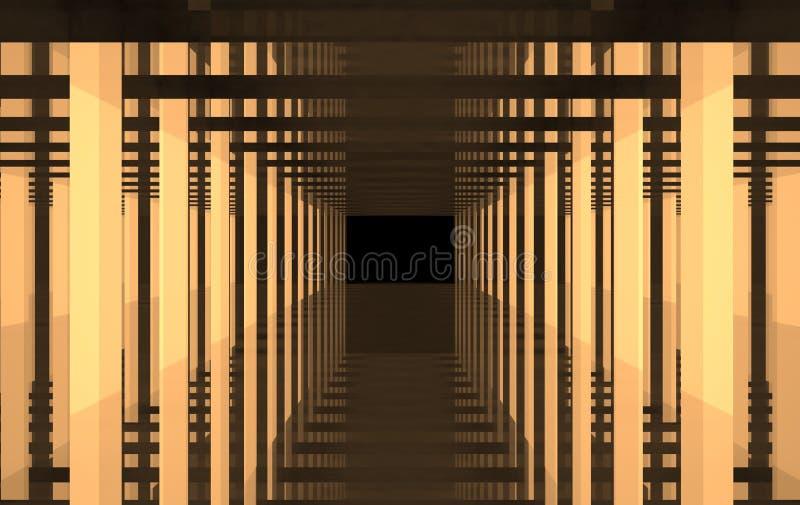 光和钢一张抽象橙色图画  库存图片