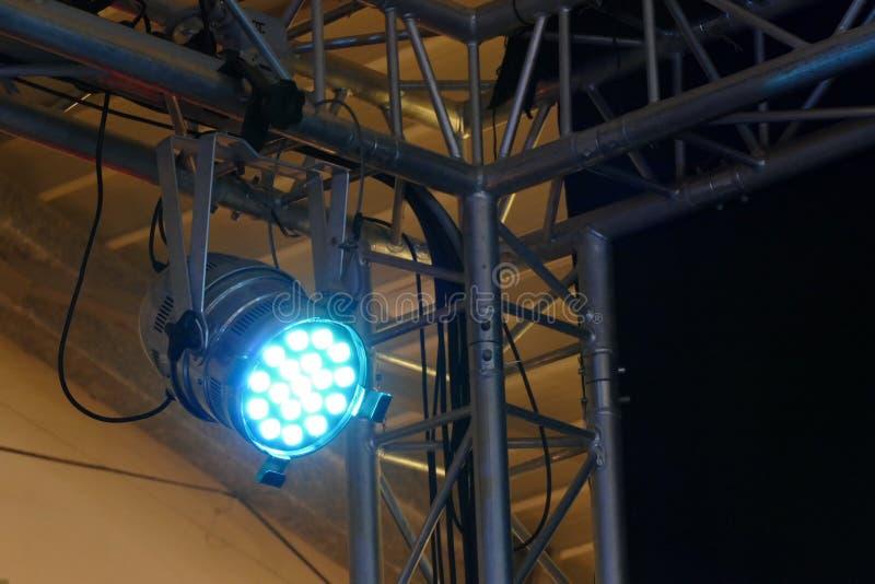 光和阶段反射器的阴影 库存图片