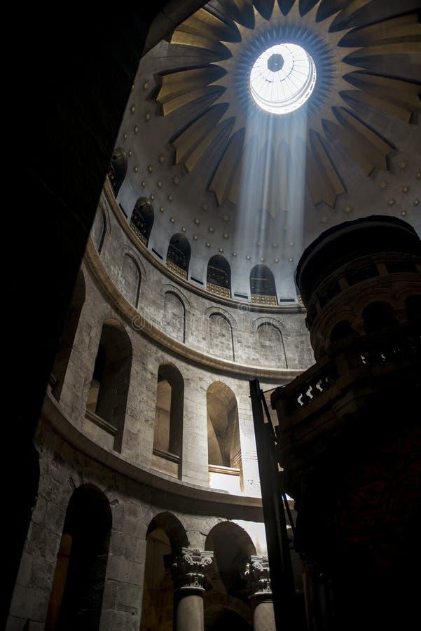 光在寺庙里面的 免版税库存照片