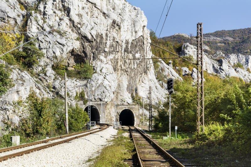 光在最后隧道的 库存图片