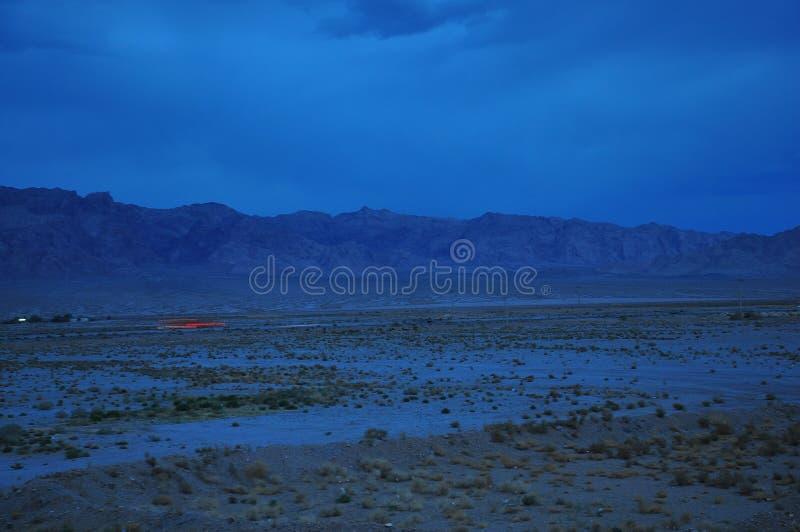 光在沙漠 库存照片