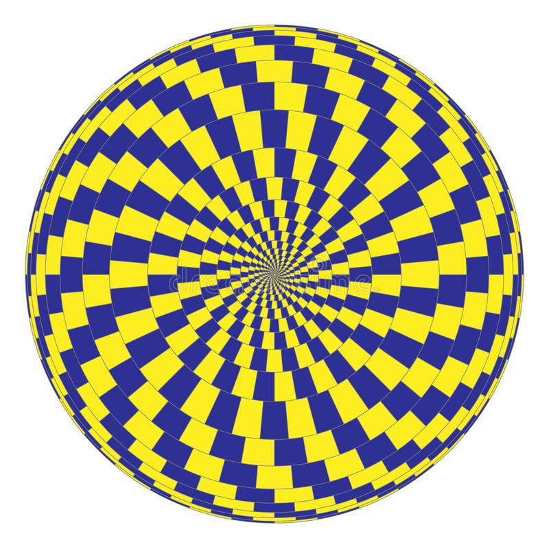 光学的幻觉 库存例证
