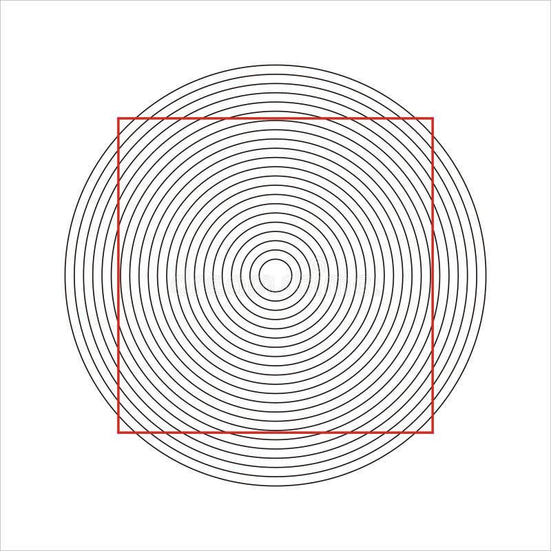 光学的幻觉 向量例证