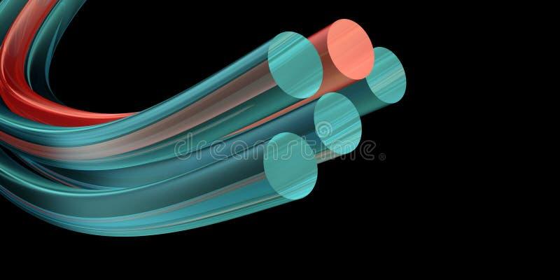 光学的纤维 库存例证
